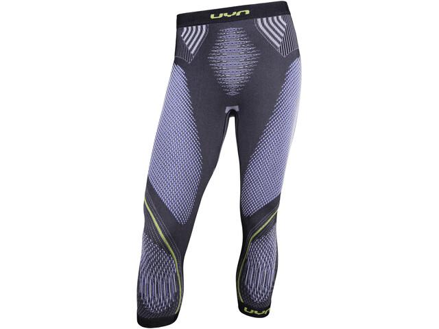 UYN Evolutyon UW Medium Pants Herr anthracite melange/blue/yellow shiny
